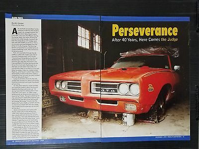 1969 Pontiac GTO Judge 4-Page Article - Free Shipping