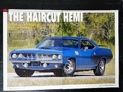 1971 Plymouth Hemi Cuda Coupe  5-Page Article - Free Shipping