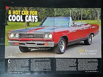 1969 Plymouth GTX Convertible  4-Page Article - Free Shipping
