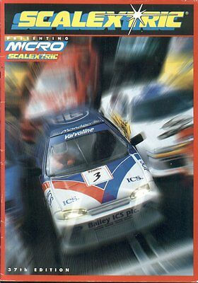 Scalextric Electric Slot Car Racing 37Th Edition (1996) Product Range Catalogue