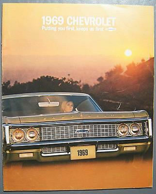 Original 1969 GM Chevrolet Impala, Bel Air, Caprice, Biscayne Dealer Brochure