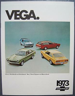 Orig 1973 GM Chevrolet Vega Notchback Hatchback Panel Express Kammback Brochure