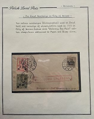 Poland Polish Local Posts 1916 Cover For Description Look At The Picture