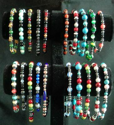 Lot of stretchy handmade beaded bracelets for resale or gifting 20 unique items