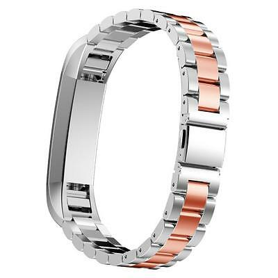 Popular 185mm Stainless Steel Watch Band For Fitbit Alta Smart Watch Rose Gold