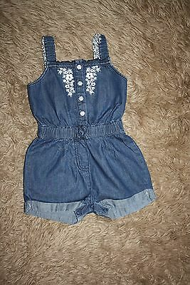 Baby Girl's Denim  Playsuit Age: 18-24 Months