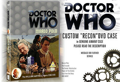 Doctor Who: Missing Episode Hartnell & Troughton Custom Classic DVD Case *RECON*