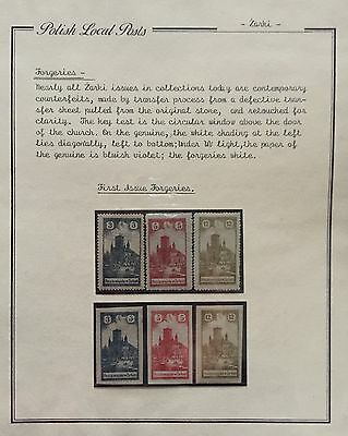 Poland Polish Local Posts 1918 Mlh* For Description Look At The Picture