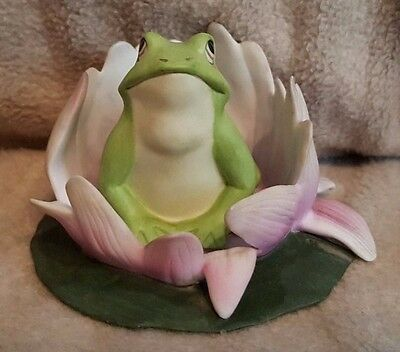 Woodland Surprises Frog By Jacquelin Smith Hand Painted Franklin Porcelain