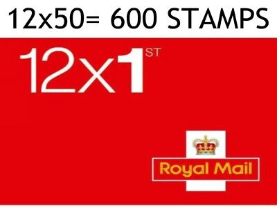 NEW Royal Mail Stamps 1st CLASS Book of 12 x 3 UK Postage