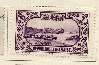 Great Lebanon 1930 Early Issue Fine Mint Hinged 6p. 133996