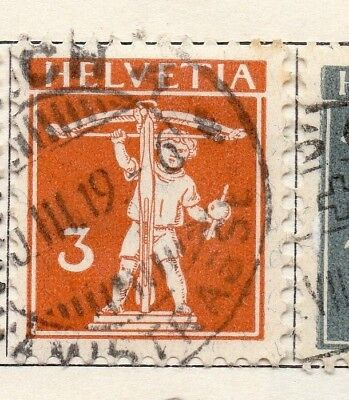 Switzerland 1916 Early Issue Fine Used 3c. 133349