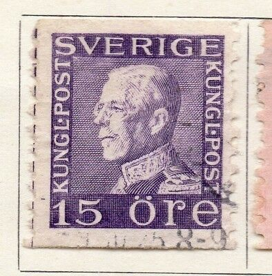 Sweden 1920-25 Early Issue Fine Used 15ore. 133407