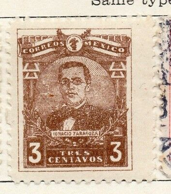 Mexico 1915 Early Issue Fine Mint Hinged 3c. 133842