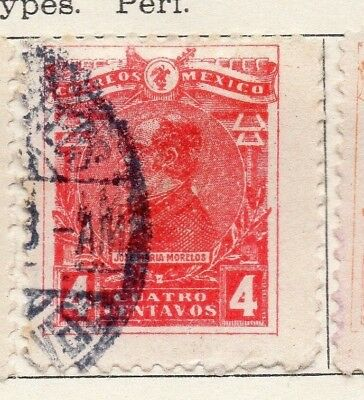 Mexico 1915 Early Issue Fine Used 4c. 133843