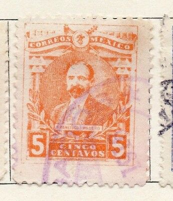 Mexico 1915 Early Issue Fine Used 5c. 133844