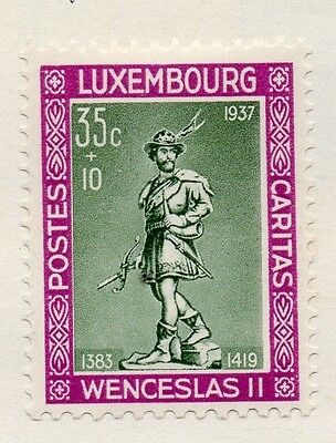 Luxembourg 1937 Early Issue Fine Mint Hinged 35c. 133872