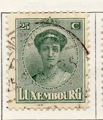 Luxembourg 1921 Early Issue Fine Used 25c. 133899