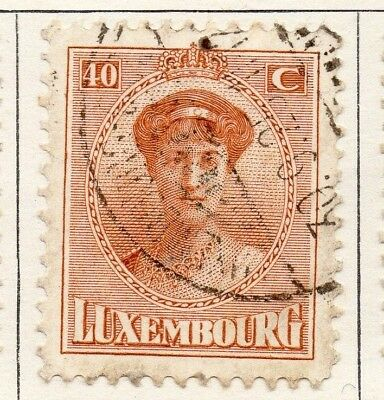 Luxembourg 1921 Early Issue Fine Used 40c. 133901