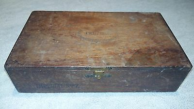 COLLECTABLE - INTERESTING EMPTY CRITERION IMPERIAL No. 7, WOODEN CIGAR BOX