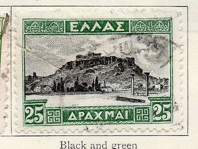 Greece 1927 Early Issue Fine Used 25dr. 133936