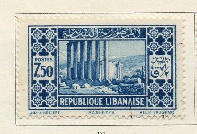 Great Lebanon 1930 Early Issue Fine Mint Hinged 7.50p. 133962