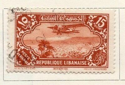 Great Lebanon 1930 Early Issue Fine Used 15p. 133970