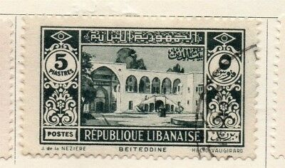 Great Lebanon 1930 Early Issue Fine Used 5p. 133995