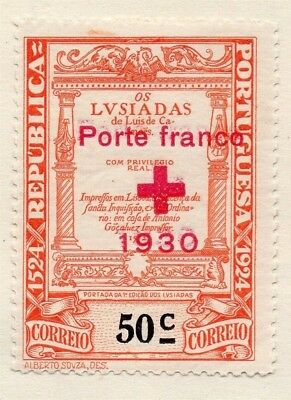 Portugal 1930 Early Issue Fine Mint Hinged 50c. Optd 133645