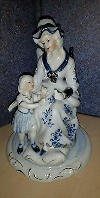 Antique porcalain blue and white Figurine Dresden