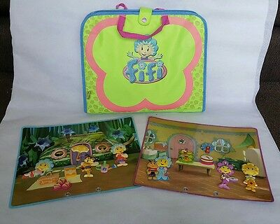 Fifi and the Flowertots Magnetic Playset scene boards and case