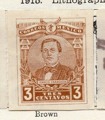 Mexico 1915 Early Issue Fine Mint Hinged 3c. 133836