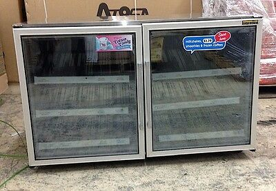 "Silver King SKF48G 48"" Two Glass Door Commercial Freezer"