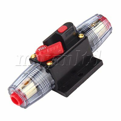 Car Truck Audio 100A Amplifier High Current Circuit Breaker Fuse Holder 12V