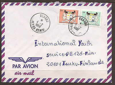Benin - Africa / Finland. 1998. Air Mail Cover.  Postmark Ouagbo. 1997 Coat Of A