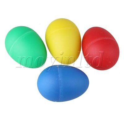 4 Multicolor Egg Maracas Shakers Music Percussion Instrument