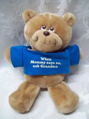 "BRUCE Bear Applause 1986 Vintage 8"" #5910 HTF Plush Korea Baby When Mama says No"