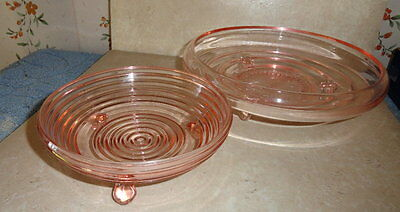 vintage pink glass dishes