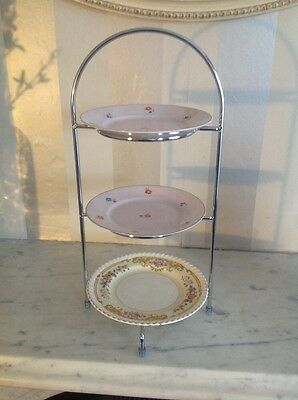 Utopia 3 Tier Cake Plate Stand 39cm for 3x 17cm Plates | Cupcake Display Stand