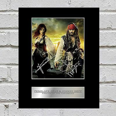 Penelope Cruz and Johnny Depp Signed Mounted Photo Display Pirates of the Caribb