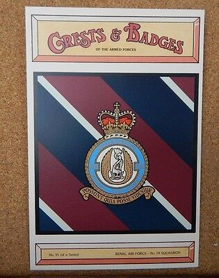 Royal Air force No 19 Squadron Crests & Badges of  the Armed services Postcard