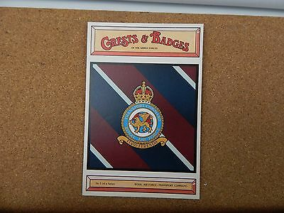 Royal Airforce Transport command Crests & Badges Of the Armed services Postcard