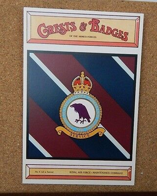 Royal Airforce Maintenance command Crests & Badges Of the Armed services PC