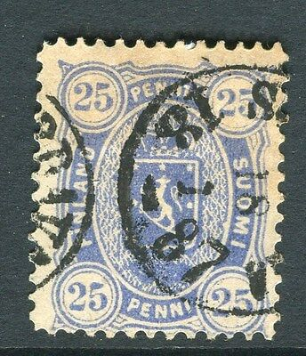 FINLAND;   1883 early classic issue used 25p. value