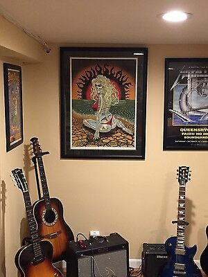 Audioslave poster signed and numbered, matted and framed