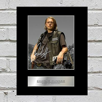 Charlie Hunnam Signed Mounted Photo Display Sons of Anarchy