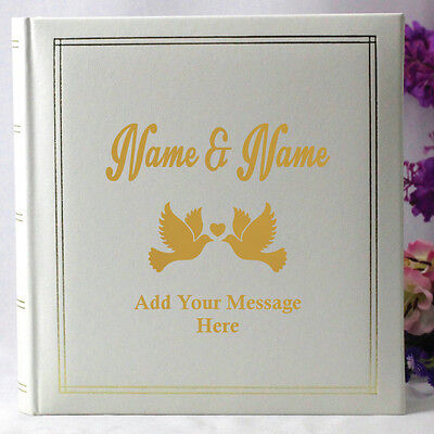 Wedding White Photo Album - Personalised Gift - Add a Name & Message