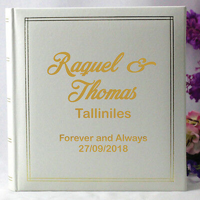 Personalised White Wedding Photo Album - Add a Name & Message