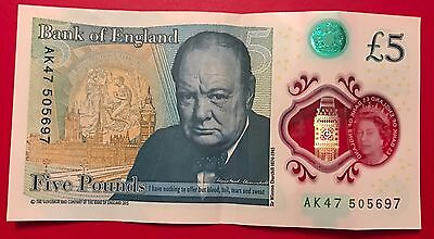 Re Collectors Polymer £5 Note Low Number Ak47 505 697