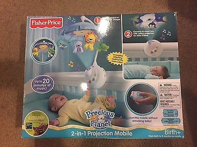 New Fisher-Price Precious Planet 2-in-1 Projection Mobile Nursery Mobile NIB